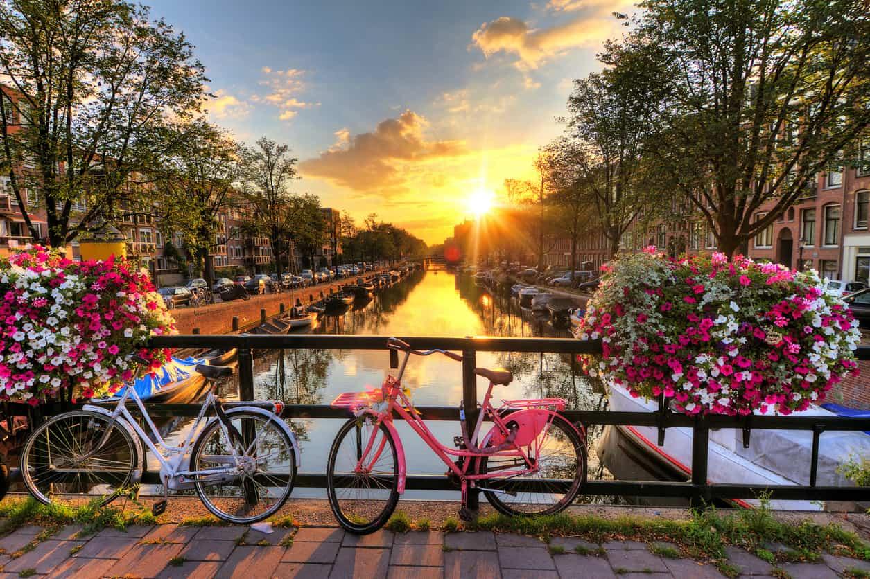 Amsterdam - Die zehn schönsten Strecken für eine Radtour durch Europa