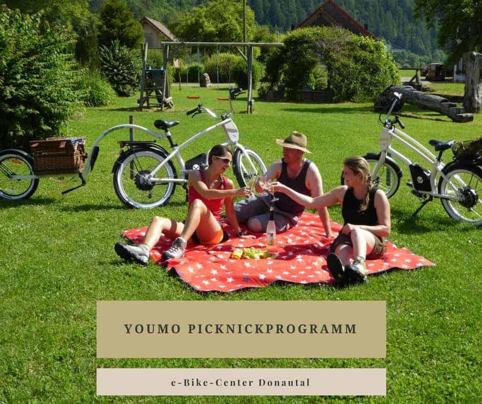 Das YouMo-Picknickprogramm im e-Bike-Center Donautal