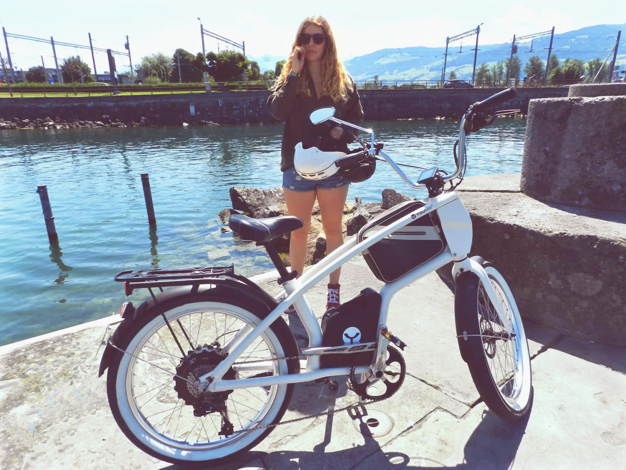 YouMo E-Bike am Zurichsee in Rapperswil
